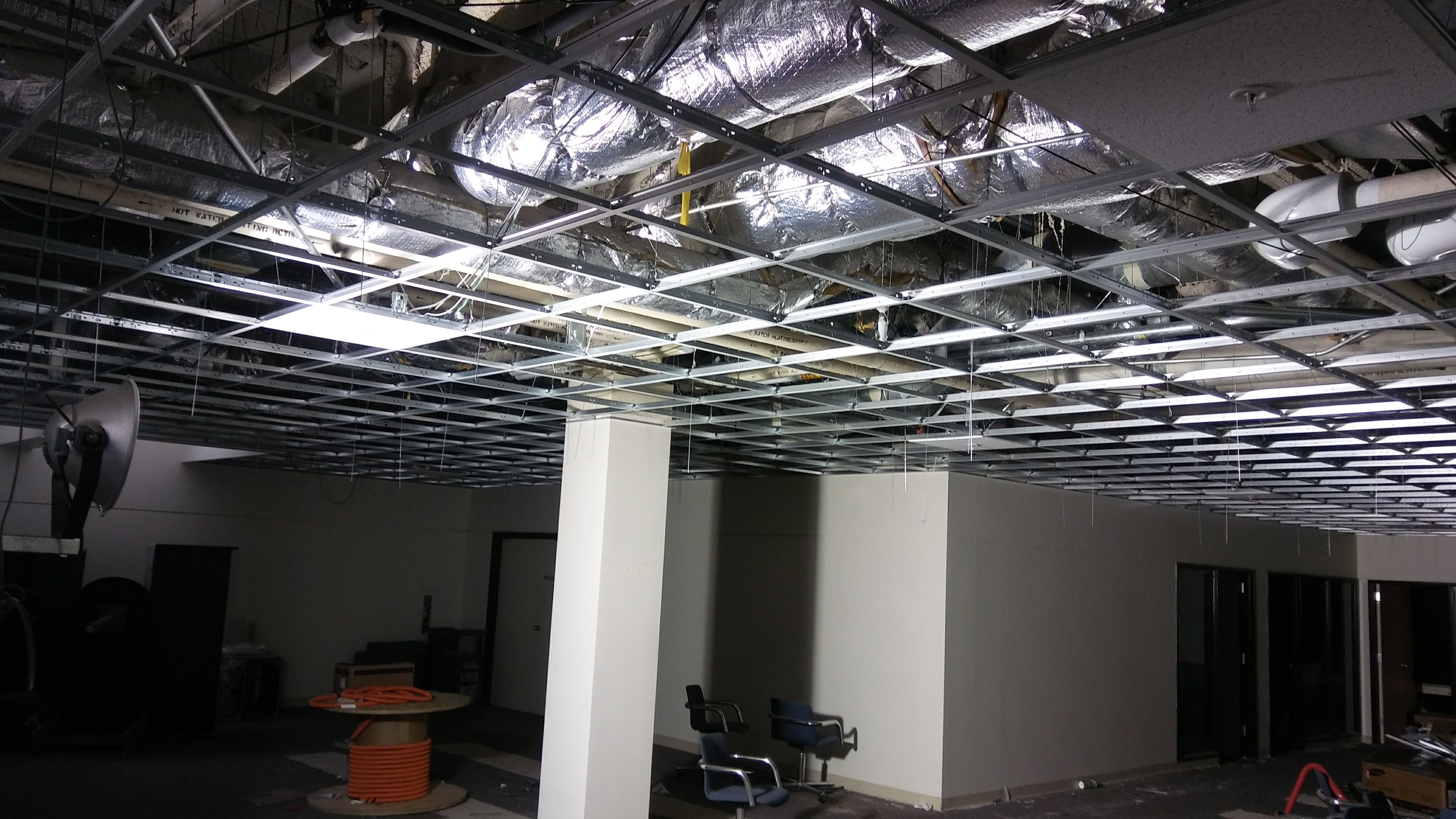 Ceiling grid in student area