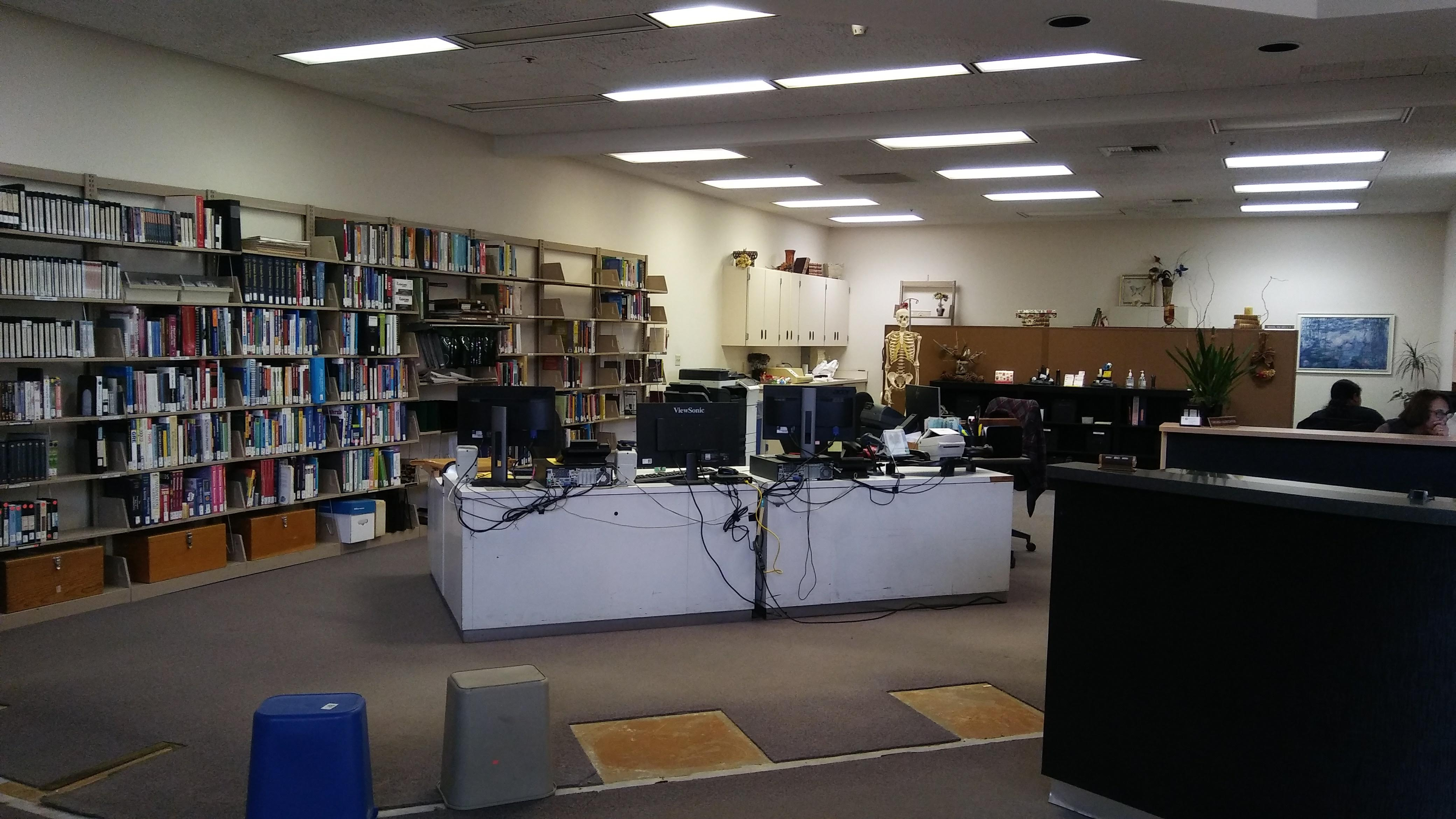 Circulation Desk removed
