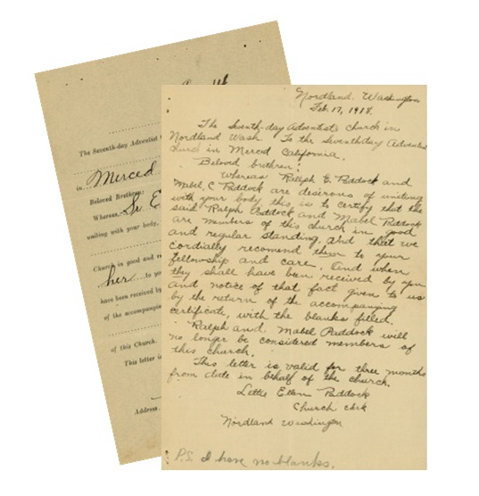 An early membership record and correspondence