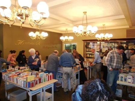 Lots of people came into the Heritage Research Center for its annual book sale last year