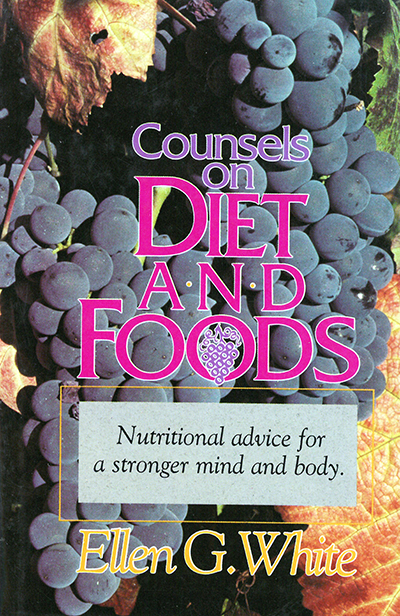 The book, Counsels on Diet and Foods, published in 1938 after White's death, compiles passages from her writings and teachings about food, and addresses her ideas on why people should eat less meat, or none at all