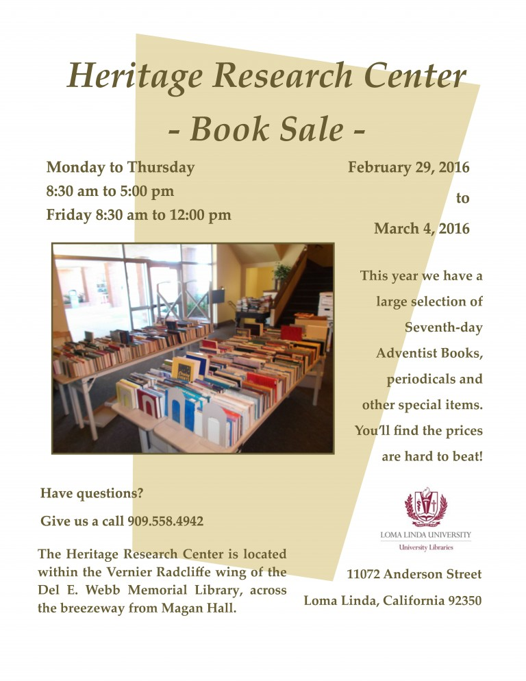 We're back! Mark your calendars for the book sale.